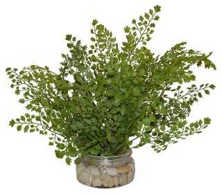 "15"" Fern in Rocks, Faux - One Kings Lane"
