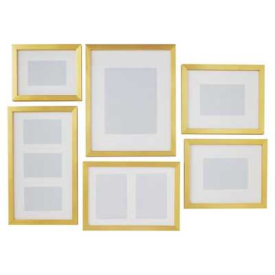 Gallery Frames, Set of 6, Gold - Pottery Barn Teen