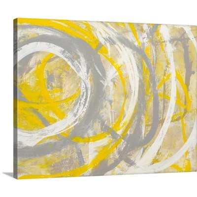 """Yellow Aura"" Painting Print on Canvas - 38""x48"" - Unframed - Wayfair"