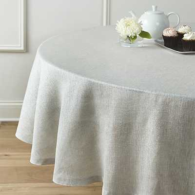 """Aurora Linen 90"""" Round Tablecloth - Crate and Barrel"""