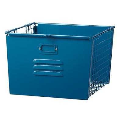 Saved by the Cube Bin Locker Basket (Dk. Blue) - Land of Nod