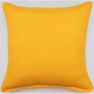 "Fresco Throw Pillow - Yellow - 17"" H x 17"" W - Polyfill - Wayfair"