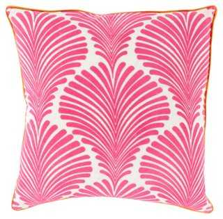 Tropical 22x22 Cotton Pillow, Pink-Insert - One Kings Lane