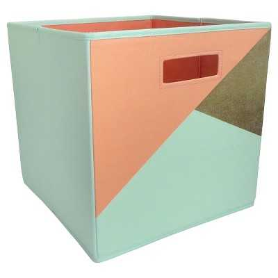 "Fabric Cube Storage Bin Geometric - Pillowfortâ""¢ - Target"