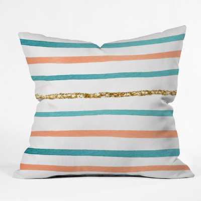 "SPARKLE STRIPE Throw Pillow - 20"" x 20"" - insert - Wander Print Co."