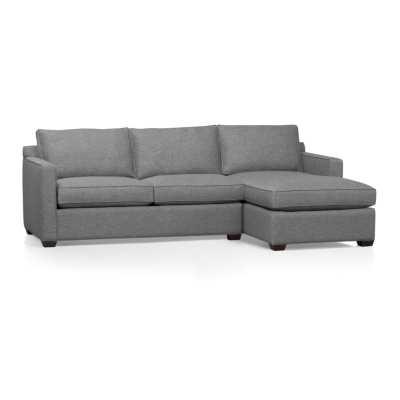 Davis 2-Piece Sectional Sofa - Ash - Crate and Barrel