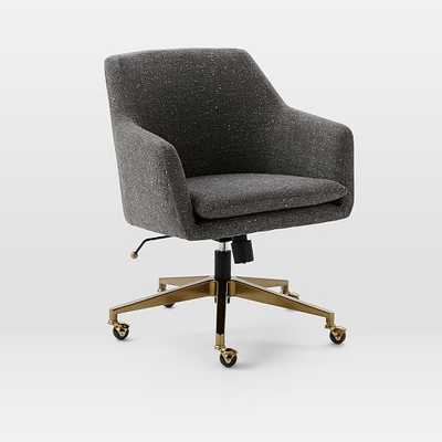Helvetica Upholstered Office Chair - West Elm