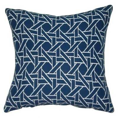 "Oversized Throw Pillow Woven Caning – Threshold™ - Flag blue; 24"" x 24"" (With insert) - Target"