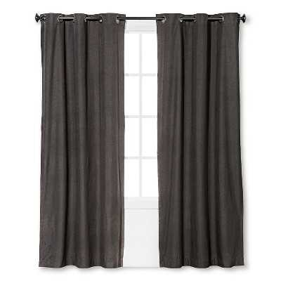 "Windsor Curtain Panel - Smoke - 54""W x 95""L - Target"