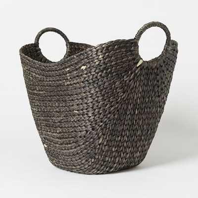 Large Curved Basket - Black Wash - West Elm