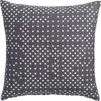 "Daub 16"" pillow- Comfy grey chambray- Down-alternative insert - CB2"