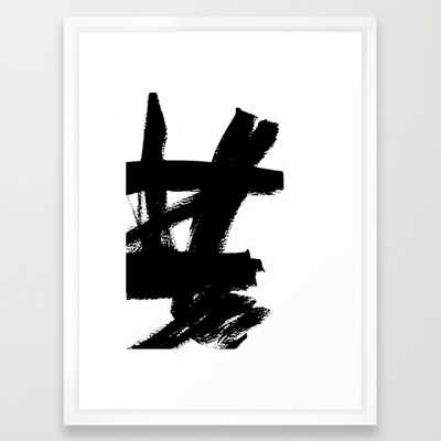 "Abstract black & white 2 - FRAMED ART PRINT/ VECTOR WHITE MEDIUM (GALLERY) (20"" X 26"") - Society6"
