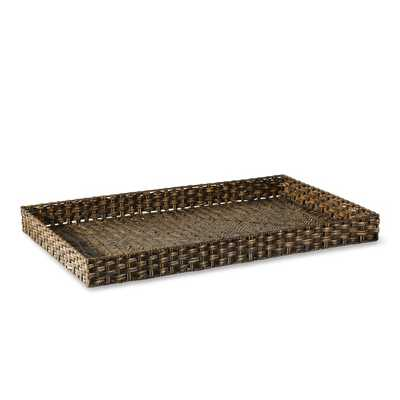 Oversized Woven Tray, Rectangular - Williams Sonoma Home