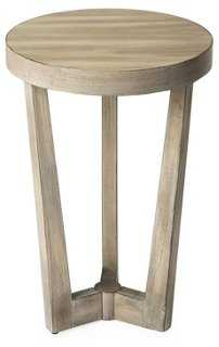 "16"" Monte Round Accent Table, Driftwood - One Kings Lane"