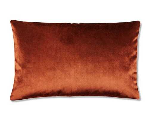 Velvet Pillow Cover, Cinnabar - 22x14, No Insert - Williams Sonoma Home