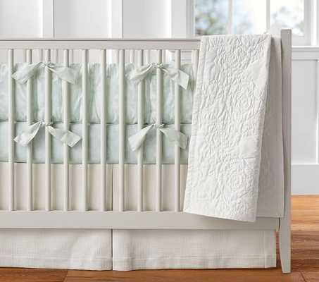 Monique Lhuillier Garden Floral Sateen Nursery Bumper Bedding Set: Bumper, Crib Fitted Sheet & Crib - Pottery Barn Kids