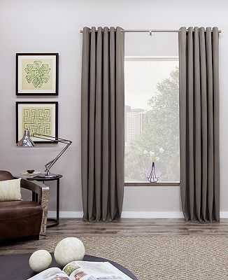 """Grommet Drapery - Pair - Natural - 24""""W x 156""""L - The Shade Store"""