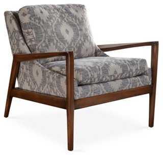 Ebonwood Accent Chair, Slate - One Kings Lane