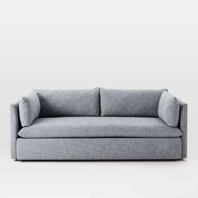 """84"""" Shelter Sofa - Yarn Dyed Linen Weave, Shelter blue - West Elm"""