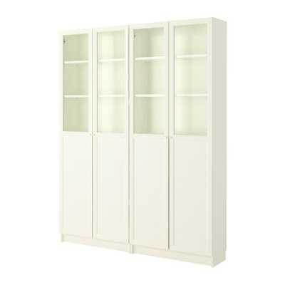 BILLY / OXBERG Bookcase, white - Ikea