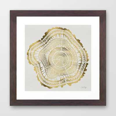 "Gold Tree Rings - FRAMED ART PRINT	/ CONSERVATION WALNUT MINI (12"" X 12"") - Society6"