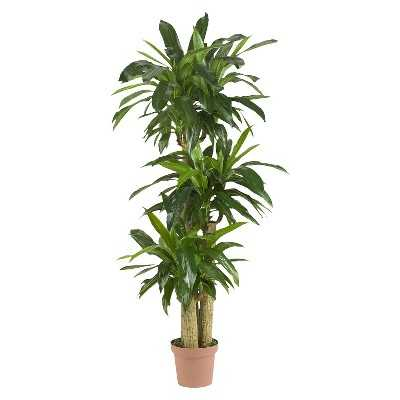 Nearly Natural Corn Stalk Dracaena Silk Plant (Real Touch) - Target
