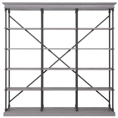 "Deidrian 84"" Bookcase by Kingstown Home - grey - Wayfair"
