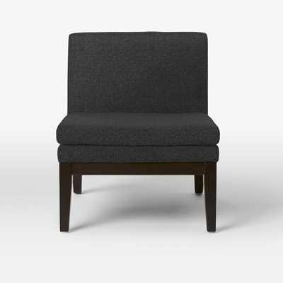 Slipper Chair - Tweed, Asphalt - West Elm
