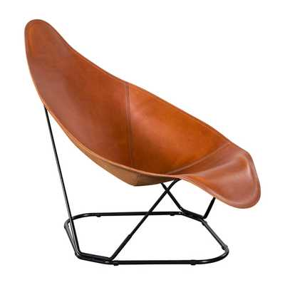 ABRAZO POLO LEATHER CHAIR - HD Buttercup