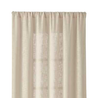 "Lindstrom Ivory 48""x84"" Curtain Panel - Crate and Barrel"