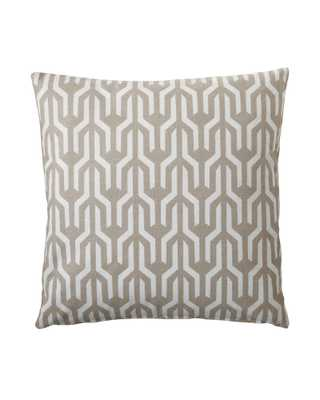 """Kuba Pillow Covers  -Bark- 20"""" x 20""""- insert not included - Serena and Lily"""