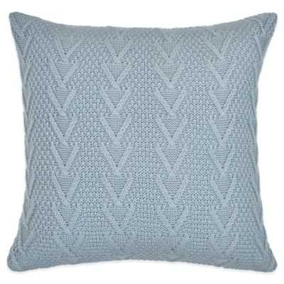 "Flatiron Home Cable Knit Square Throw Pillow in Light Blue, 18""Sq - Bed Bath & Beyond"