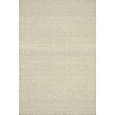 Hand-woven Poplin Beige Wool/ Cotton Rug - Overstock