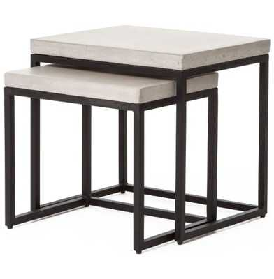 MAXIMUS NESTING SIDE TABLE NATURAL CONCRETE - HD Buttercup