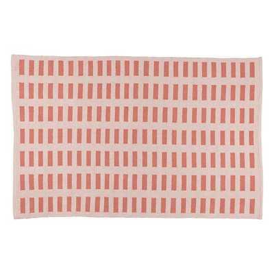 8 x 10' Pink Domino Rug - Land of Nod