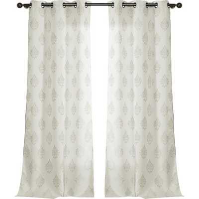 Ellaroma Jacquard Curtain Panel - Sets of 2 - Wayfair