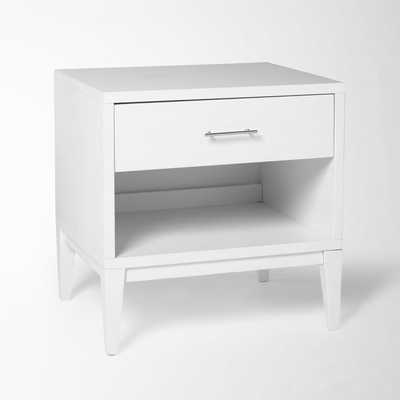 Narrow-Leg End Table - White - West Elm