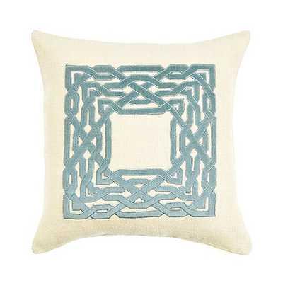 """Trellis Pillow- 18"""" x 18""""- River- feather-down insert - Ballard Designs"""