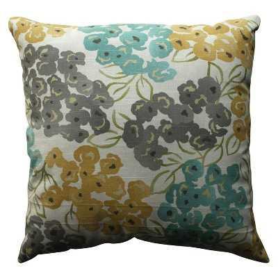 """Luxurious Floral Toss Pillow - 18"""" X 18"""" - Polyester fill - Target"""