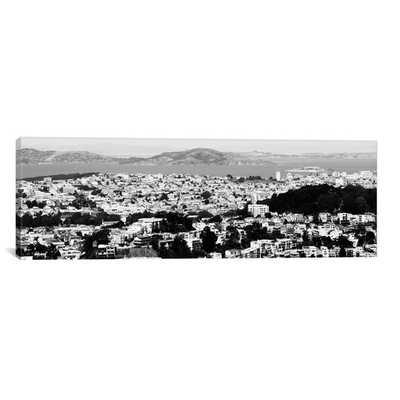"San Francisco Panoramic Skyline Cityscape - 12"" H x 36"" W x 0.75"" D - Unframed - AllModern"