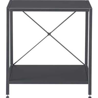 harvey carbon grey nightstand - CB2
