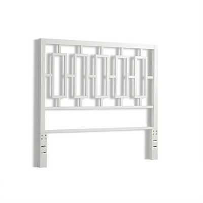 Window Headboard, King, White Lacquer - West Elm