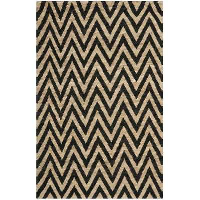 Safavieh Hand-knotted Organic Black/ Natural Wool Rug (8' x 10') - Overstock