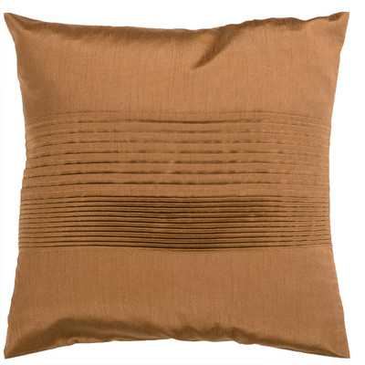 "Bradshaw Pleated Throw Pillow - Copper - 18""Sq (Down fill) - Wayfair"