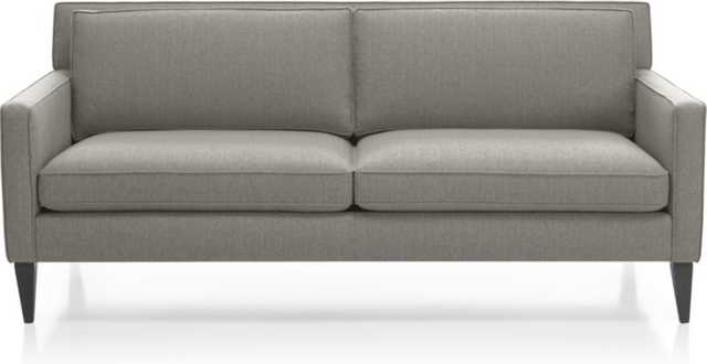 Rochelle Apartment Sofa-Smoke - Crate and Barrel