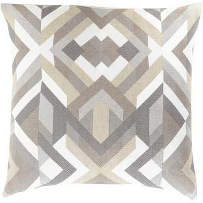 """Geometric Cotton Throw Pillow - 18"""" x 18"""" - Charcoal - Polyester filled - AllModern"""