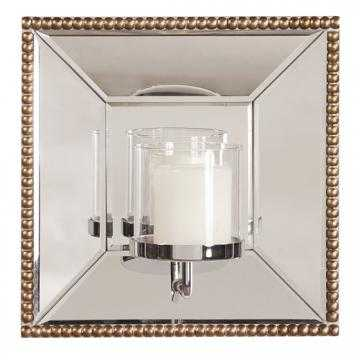 LYDIA MIRROR WITH CANDLE HOLDER - Home Decorators