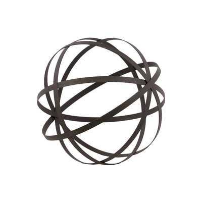 "Metal Orb Dyson Sphere Design Decor Grey (5 circles) - 10"" H - Wayfair"