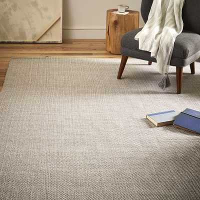 Solid Metallic Jute Rug - Platinum/Silver - West Elm