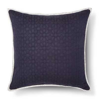 Oversized Tile Texture Throw Pillow -  24 L x 24 W - Blue - Polyester Insert - - Target